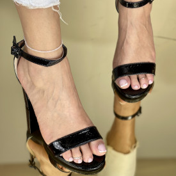 Sandale Cu Toc Somalia Negre