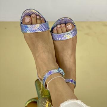 Sandale Cu Toc Somalia Roz