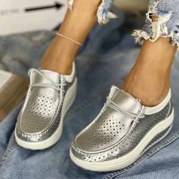 Pantofi Casual Sisli Argintii