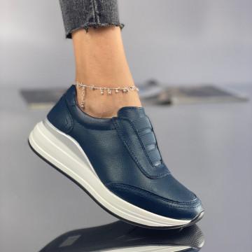 Pantofi Dama Casual Caria Bleumarin