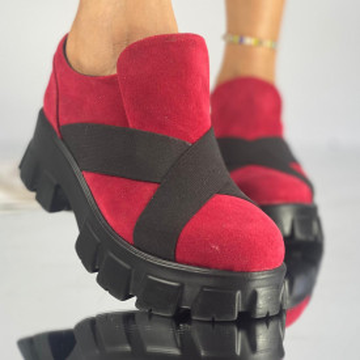 Pantofi Dama Casual Iana Rosii