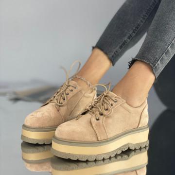 Pantofi Dama Casual Simi Bej