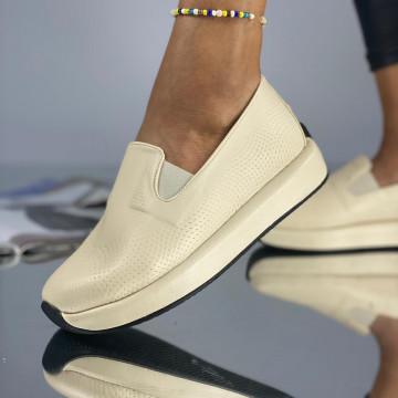 Pantofi Dama Casual Tatos Bej