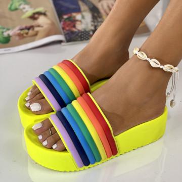 Papuci Crema Galbeni
