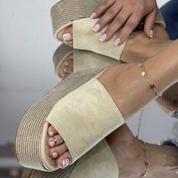 Papuci Crendo Bej