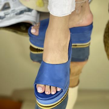Papuci Crinita Albastri
