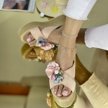 Papuci Flora Roz