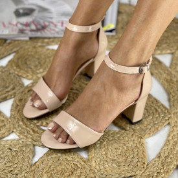 Sandale cu toc Ada Crem