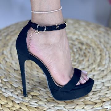 Sandale Cu Toc Amaris Negre