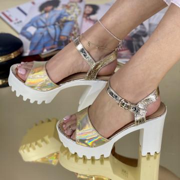 Sandale Cu Toc Comenda Aurii