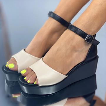 Sandale Nubira Bej
