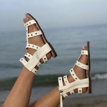 Sandale Parela Bej