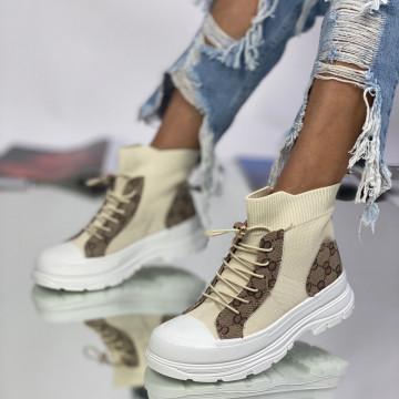 Sneakersi Dama Demara Bej