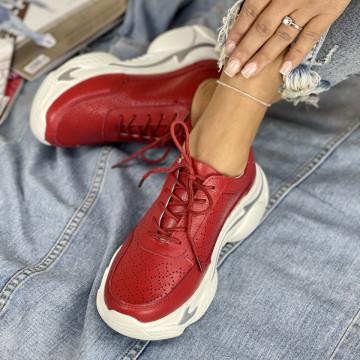 Pantofi Casual Mekona Rosii