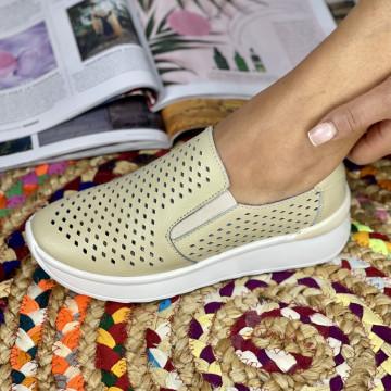 Pantofi Casual Rima Bej