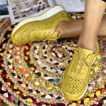 Pantofi Casual Samia Mustar