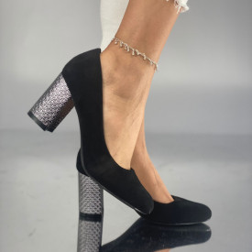 Pantofi cu toc Simoneta Negri Suet