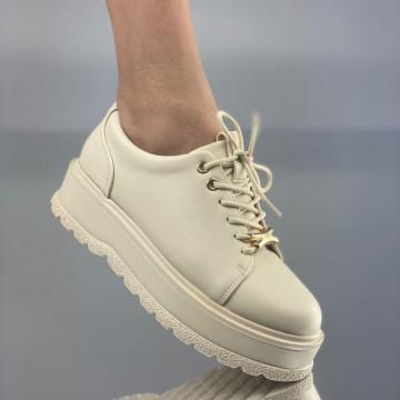 Pantofi Dama Casual Denisa Bej