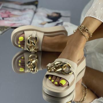 Papuci Casina Bej