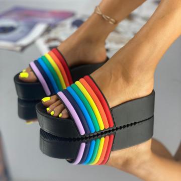 Papuci Crema Negri