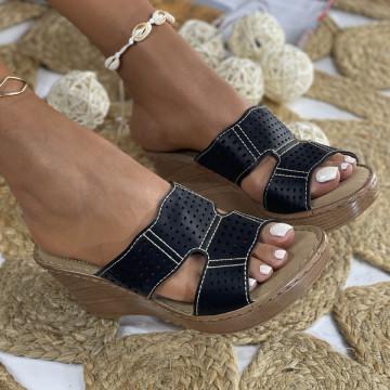 Papuci cu Platforma Rotas Negre