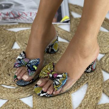 Papuci cu Toc Paula Albastre