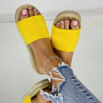 Papuci emerald Galbeni