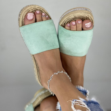Papuci emerald Verzi