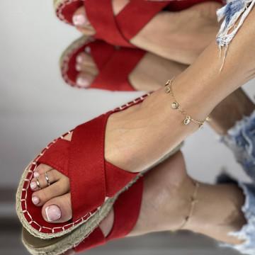 Papuci Laran Rosii