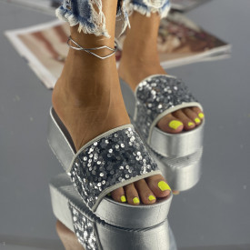 Papuci Lokita Argintii