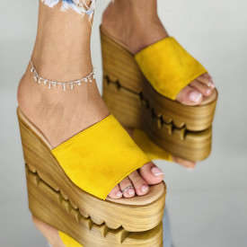 Papuci Preta Galbeni