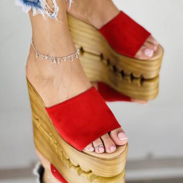 Papuci Preta Rosii