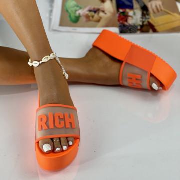 Papuci Rich Oranj