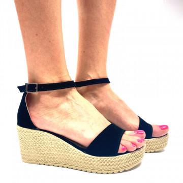 Sandale cu platforma Aylin Negre
