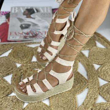 Sandale cu Platforma Duma Bej