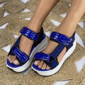 Sandale cu Platforma Furia Albastre