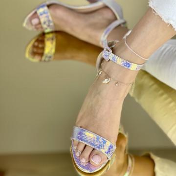 Sandale Cu Toc Somalia Aurii