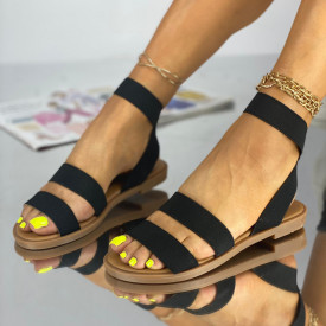 Sandale Fara Toc Korea Negre