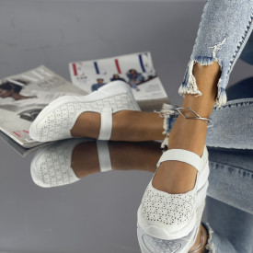 Sandale Posira Albe