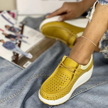 Pantofi Casual Anisia Galbeni