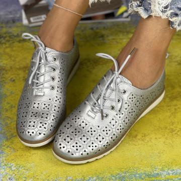 Pantofi Casual Dora Argintii