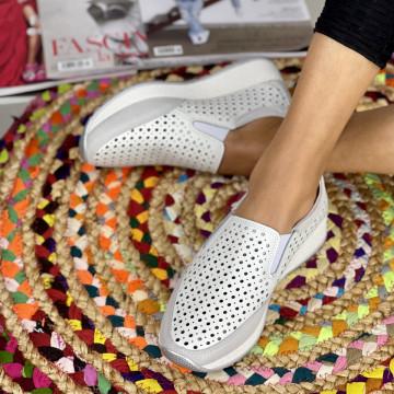 Pantofi Casual Zori Albi