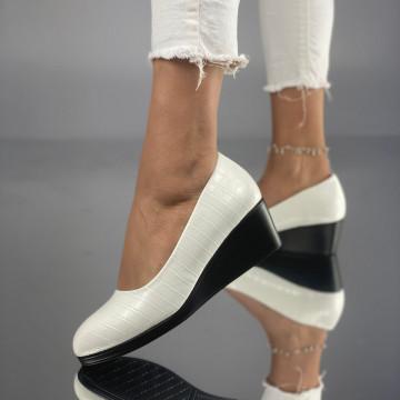 Pantofi cu Platforma Meloda Albi