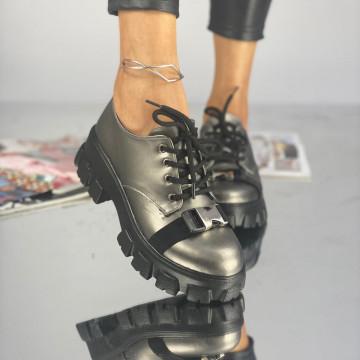 Pantofi Dama Casual Crix Argintii