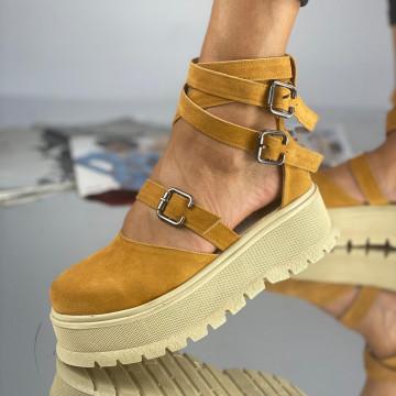 Pantofi Dama Casual Dolma Galbeni