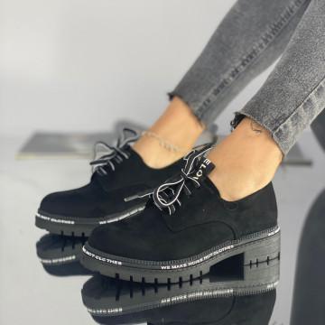 Pantofi Dama Casual Lulu Negri Suet