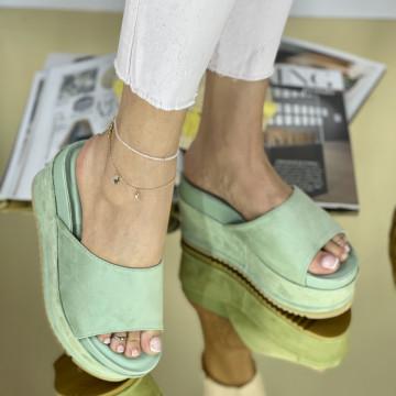 Papuci Crinita Verzi
