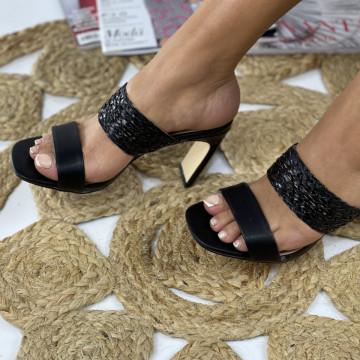 Papuci cu Toc Simera Negri
