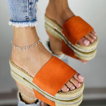Papuci emerald Oranj