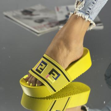 Papuci Fiera Galbeni